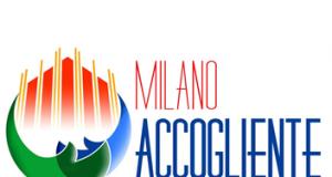 Logo del portale Milano accogliente: il duomo di Milano avvolto da un abbraccio