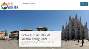 La Home page del sito di Milano accogliente