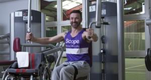 Kris Saunders-Stowe using pulling weight machines © Sam Mell