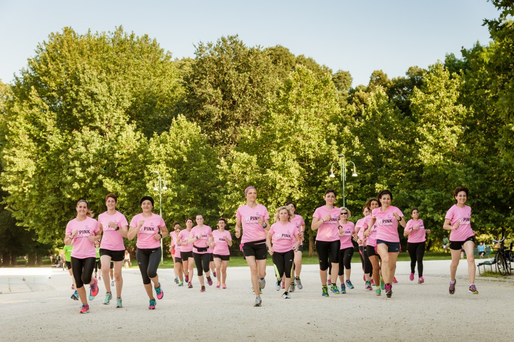 Le Pink Runners durante un allenamento