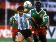Mondiali 1990 - Argentina vs Camerun - Diego Maradona e Benjamin Massing - talenti